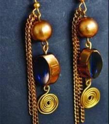 Buy Candy Love Bluish blue Earrings danglers-drop online