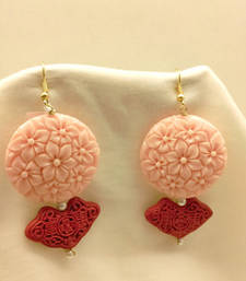 Buy PINK and RED CORAL danglers-drops danglers-drop online