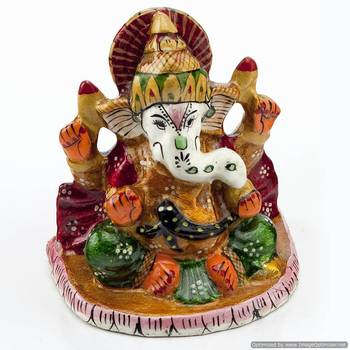 Handpainted Enamelled Metal Ganapati_10