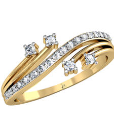 Buy 18Kt Pure Gold  Seraph'S Corsage Ring By Jewellery Bazaar wedding-ring online