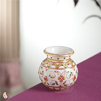 JAAL design Gold work Marble Pot