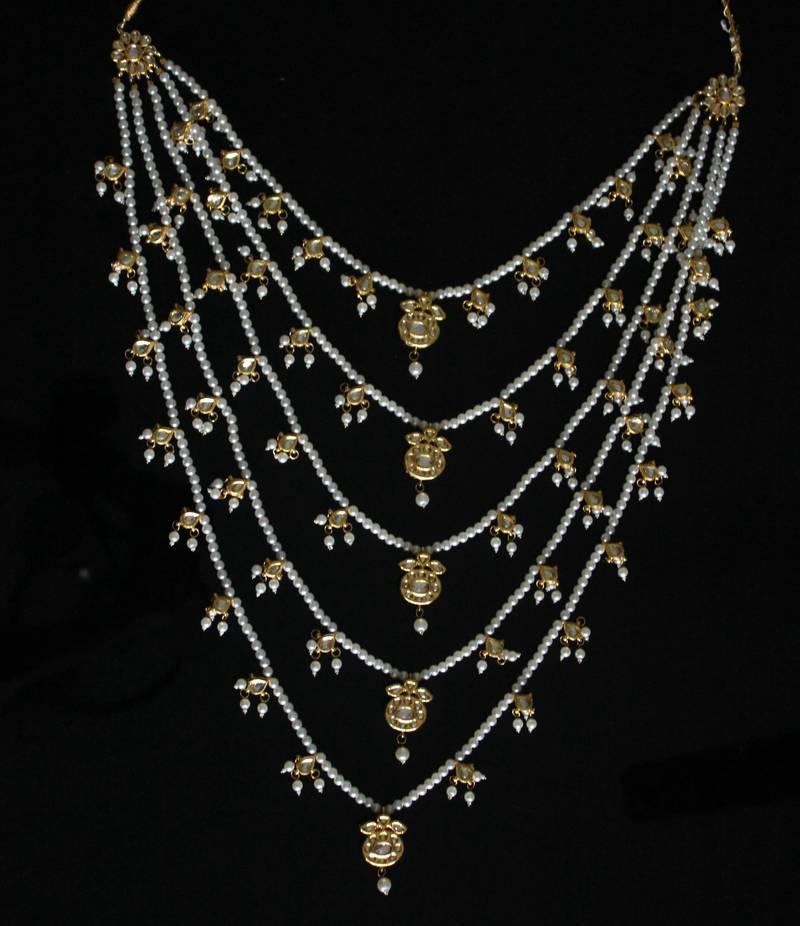 Buy Kundan And Pearl Pachlada Rani Haar Online