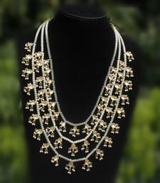Buy Kundan and Pearl Teenlada rani haar necklace Necklace online