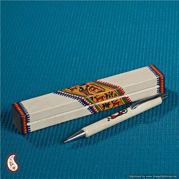 Wooden hand painted Pen with box