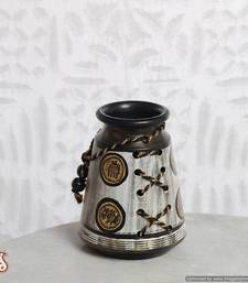 Buy Terracotta flower vase with Warli painting vase online