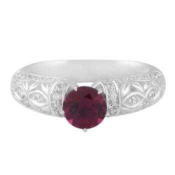 Presents Silver Rhodolite Gemstone Studded Ring