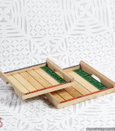 Buy Explicitly pleasing handcrafted wooden trays  diwali-gift online