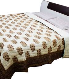Buy Brown printed Pure Cotton Quilts quilt online