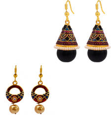 Buy Shanku and drop earring Combo combo-earring online