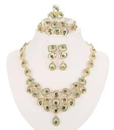 Buy Green Cubic Zirconia necklace-sets necklace-set online