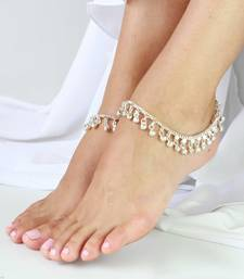 Buy Silver tone Jingle Bells Anklets Payal pair gifts-for-wife online