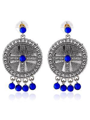 Silvered Fancy Royal Earrings