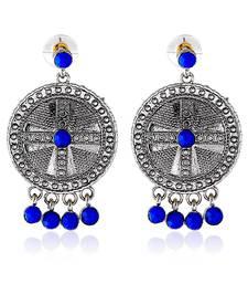 Buy Silvered Fancy Royal Earrings hoop online