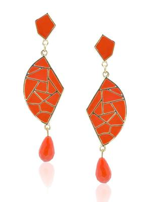Mosaic tangerine Beauty Dangler Earring