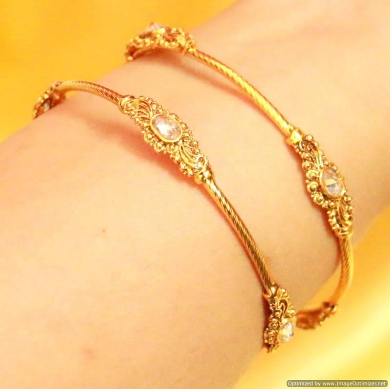 Buy Gold Look Filigree Antique Bangles Online