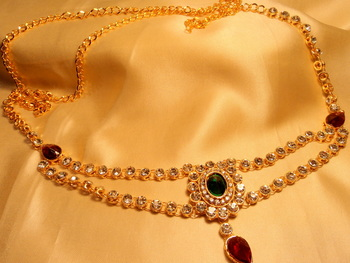 royal redgreen traditional gold platted belly waistbelt