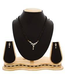 Buy American Diamond Studded Designer Gold Plated Mangalsutra mangalsutra online