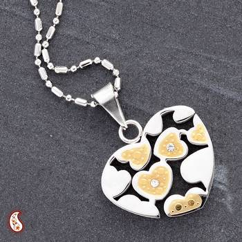 Gold Polish Heart Pendant
