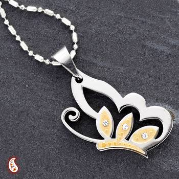 Butterfly Pendant with gold polish