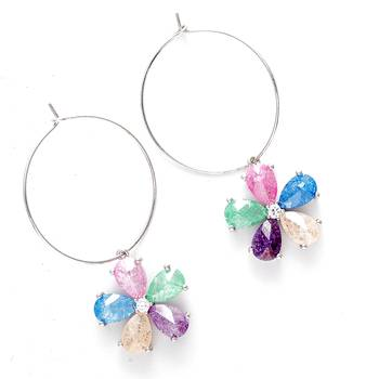 Bohemian Multicolor Hoop Earrings
