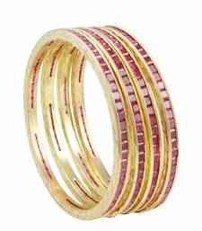 Buy Ruby Red CZ AD American Diamond Bangles Jewellery for Women - Orniza black-friday-deal-sale online