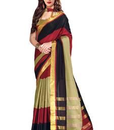 Buy multicolor printed chanderi saree With Blouse chanderi-saree online