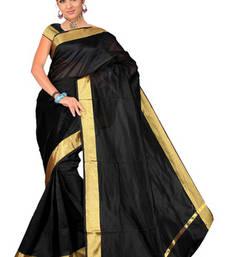 Buy Pavecha's Banarasi Black Patta Saree MK676 party-wear-saree online