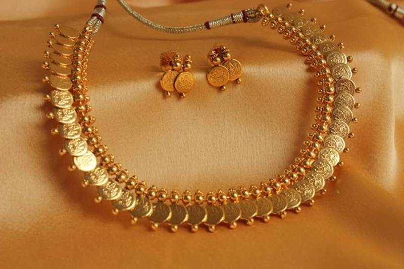 Buy Beautiful Antique Coin Necklace Set Dj06847 Online