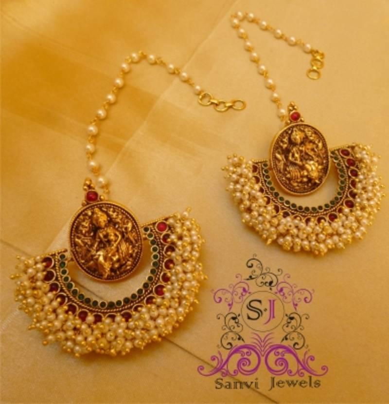 Buy Temple Jewellery Pearl Earrings Online