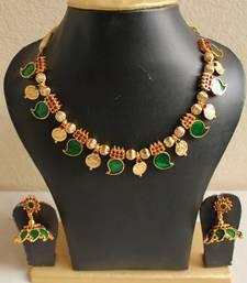 Buy GORGEOUS KERALA STYLE PALAKKA NECKLACE SET DJ04032 necklace-set online