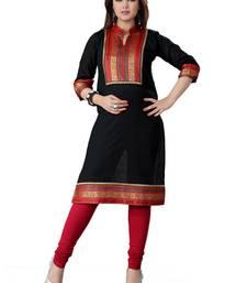 Buy Black cotton plain kurti plus-size-kurtis online