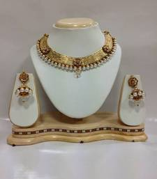 Buy Celebrity Kundan Jewelry with Pearls in White black-friday-deal-sale online