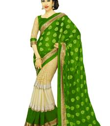 Buy Karishma Kapoor Green Georgette Saree With Blouse georgette-saree online
