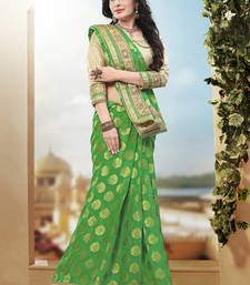 Buy light green hand woven pure viscose saree With Blouse heavy-work-saree online