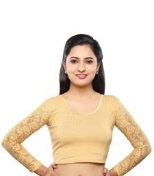 Buy Gold cotton stitched blouse plus-size-blouse online