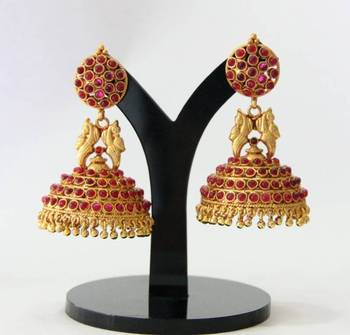 BEAUTIFUL ANTIQUE BIG SIZE JHUMKA(LENGTH 2.6 INCHES)