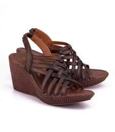 Buy Brown genuine leather footwear eid-footwear online