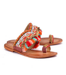 Buy Multicolor genuine leather footwear footwear online
