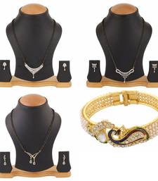 Buy White american diamonds mangalsutra jewellery-combo online