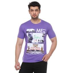 Buy Blue printed cotton t shirt gifts-for-brother online