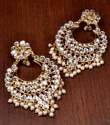 Buy Kundan Embellished Dangler Earrings 217ED82 wedding-season-sale online