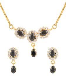 Buy Black gold plated pendant set Pendant online
