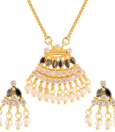 Buy Black gold plated pendant set Pendant online