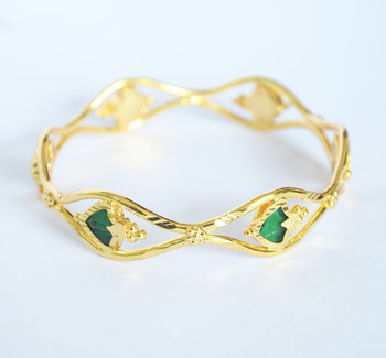 Gold plated single palakka bangle