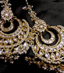 Buy designer mastani kundan big danglers black-friday-deal-sale online