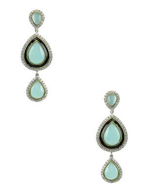 Turquoise Blue Antique Victorian Dangle Earrings Jewellery for Women - Orniza