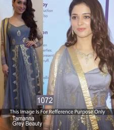 Buy Grey net embroidered semi stitched salwar with dupatta bollywood-salwar-kameez-online online