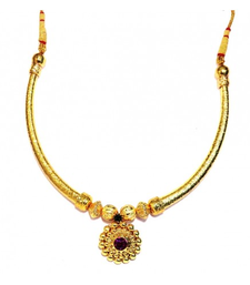Buy Hasli Necklace traditional Maharashtrian Pipe thushi necklace-set online
