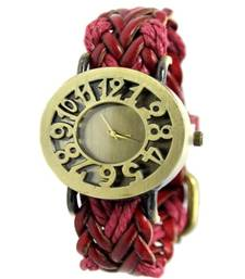 Buy Red leather watches for women gifts-for-girlfriend online