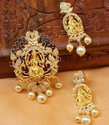 Buy Designer Temple pendnat set south-indian-jewellery online